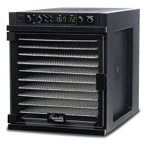 Tribest Sedona Express SDE-S6780-B Digital Food Dehydrator Black with Stainless Steel Trays