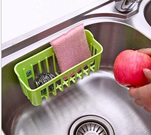Fubarbar Multifunctional Kitchen Sink Storage Basket Creative Dishwashing Sponge Drain Shelf Green