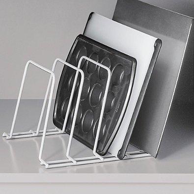 SALT Cabinet Storage Rack in White