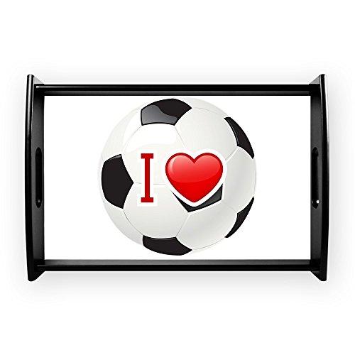 Small Serving Tray I Love Soccer Football Futbol