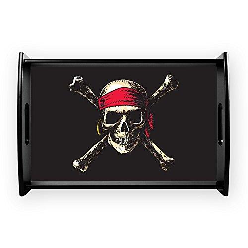 Small Serving Tray Pirate Skull Crossbones