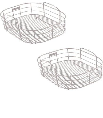 10-in W x 12-in L x 8-in H Metal Dish Rack and Drip Tray - LKWRB1113SS Model - Elkay - Set of 2 Gift Bundle