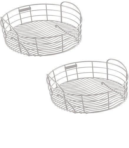 11-in W x 11-in L x 8-in H Metal Dish Rack and Drip Tray - LKWRB12SS Model - Elkay - Set of 2 Gift Bundle