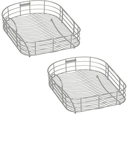 194375-in W x 171875-in L x 8-in H Metal Dish Rack and Drip Tray - LKWRB2118SS Model - Elkay - Set of 2 Gift Bundle