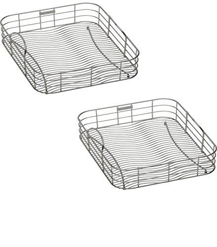 19-in W x 17-in L x 8-in H Metal Dish Rack and Drip Tray - LKWRB2018SS Model - Elkay - Set of 2 Gift Bundle