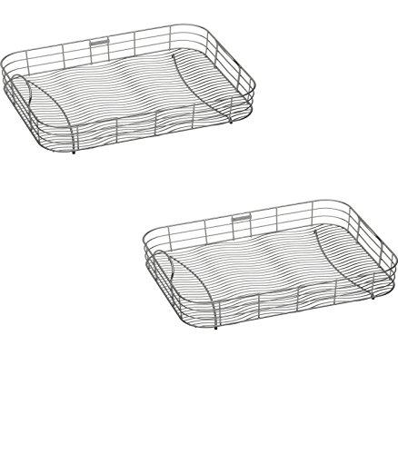 20-in W x 1475-in L x 8-in H Metal Dish Rack and Drip Tray - LKWRB2115SS Model - Elkay - Set of 2 Gift Bundle