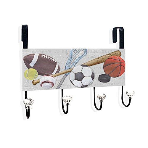 Sports Balls With Words Over The Door Towel Hanger
