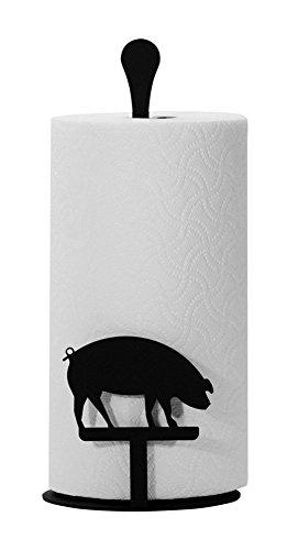 Iron Counter Top Pig Kitchen Paper Towel Holder - Heavy Duty Metal Paper Towel Dispenser Kitchen Towel Roll Holder