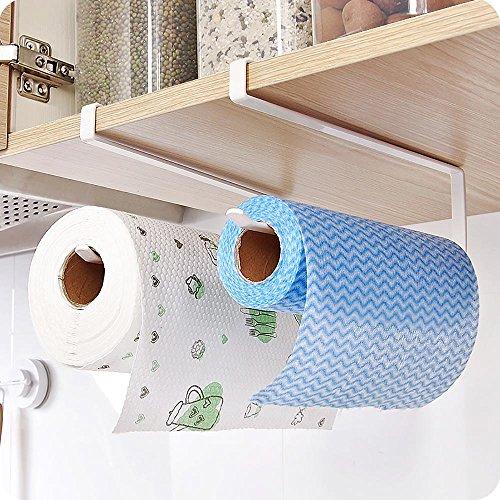 Mmrm Simple Metal Paper Towel Holder Roll Reserve Paper Shelf Hanging Support