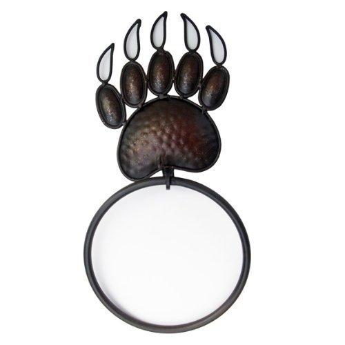 Black Bear Towel Ring Hand Hammered Copper Rack