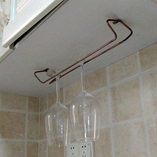 Awerise Vintage Style under cabinet wine glass rack hanging wine glass rack stemware rack