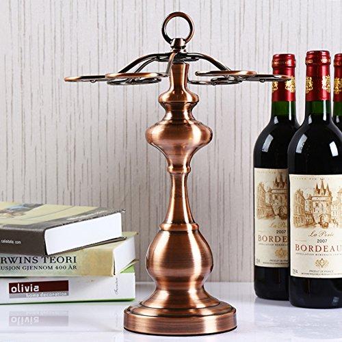 Wine cup holderStainless steel pendantInverted hanging glass shelvesGoblets rack-G