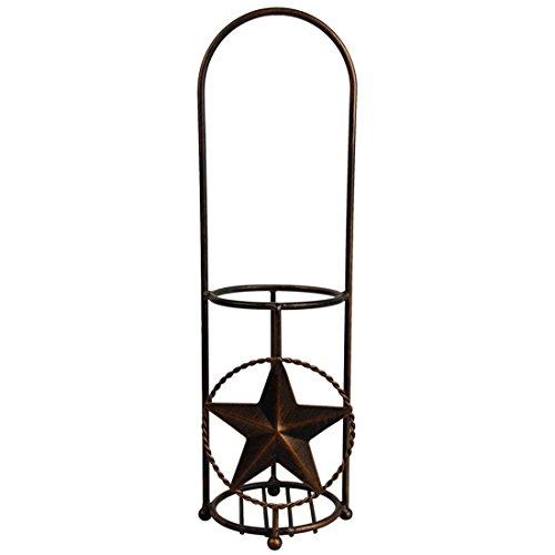 Wine Rack Bronze Metal Star Shaped Wine Stand Single Bottle Tabletop Wine Holder Display Rack