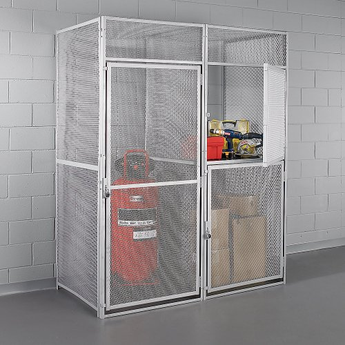 Hallowell Modular Single-Tier Storage Locker - 36X36x90 - Add-On - Platinum