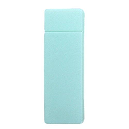 Freedi Transparent Pencil Case Mini Storage Box with Hinged Lid Snap Closure Non-toxic Eco-Friendly Plastic size L Green