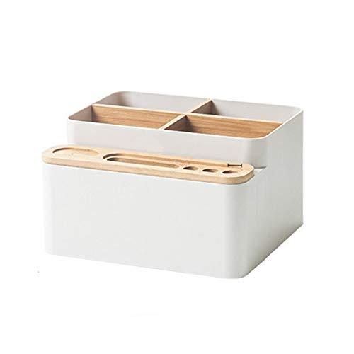 YMXGLT Plastic Cosmetic Storage Box Bamboo with Drawer Storage Box Anti-fouling Dustproof and Waterproof Modern Minimalist Style Creative Home Mini Storage Box2packs