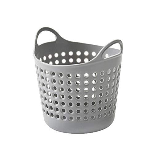 carduran Wastebasket Wastepaper Basket Mini Storage Box Hollow Sundries Holder Organizer for Office Home Desk - Grey