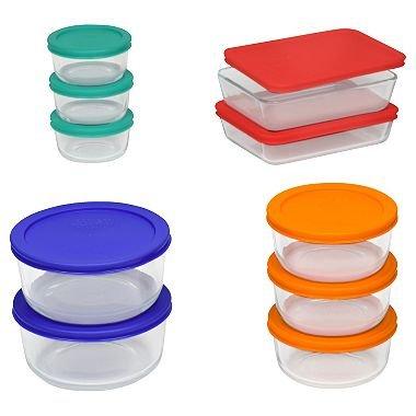 Pyrex 20-Piece Glass Storage Set pack of 2