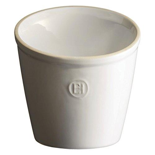Emile Henry Made In France Utensil PotUtensil Holder Flour White