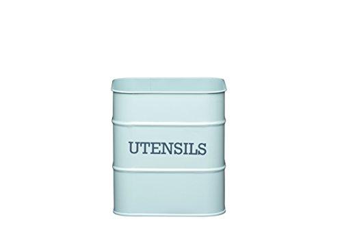 KitchenCraft Living Nostalgia Vintage Metal Utensil Pot Storage Tin in Blue LNUTENBLU