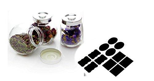 Healthcom 6 Oz Glass Penny Candy Jar Cookie Jars Decorative Mason Jar Canning Jar Bulk Food Storage Jars3 Pieces180mL