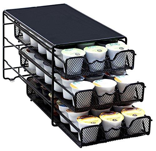 DecoBros 3 Tier Drawer Storage Holder 54 Keurig K-cup Coffee Pod