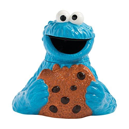 Vandor Sesame Street Cookie Monster Sculpted Ceramic Cookie Jar 32041