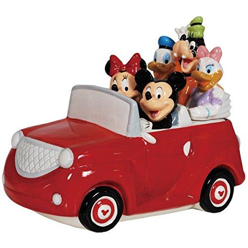 Westland Giftware Ceramic Cookie Jar 85-Inch Disney Mickey and Friends Road Trip