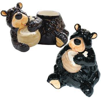 Willie Black Bear Slurping up the Honey Yum Glossy Cookie Jar with Lid 10