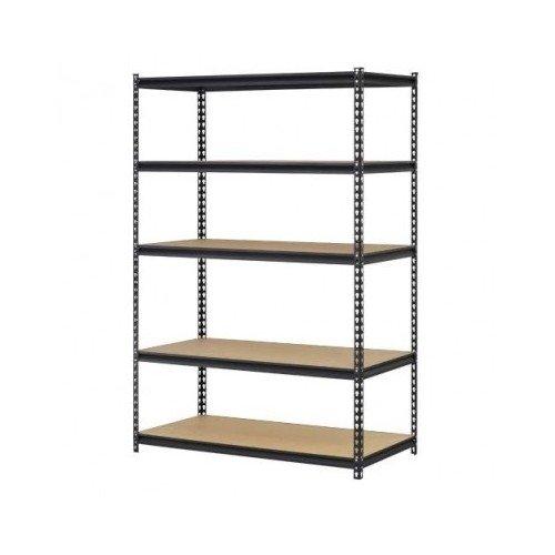 Garage Storage Shelves Heavy Duty Adjustable Steel 5 Shelf Metal Racks 4 Wide X 2 Deep X 6 High Set of 2