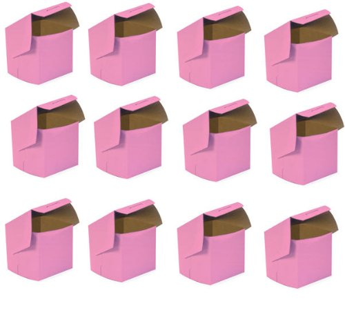 Cakesupplyshop Packaged 100pack 4x4x4 Pink Single Slice Cake  Single Cupcake Box