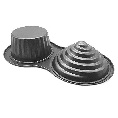 HOMOW 3D Giant Cupcake Pan Non-Stick Carbon Steel Jumbo Cupcake Pans Large Cupcake Mold NS8-001 1535 x 807 x 323