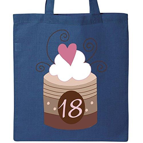 Inktastic 18th Birthday Cupcake Tote Bag Royal Blue