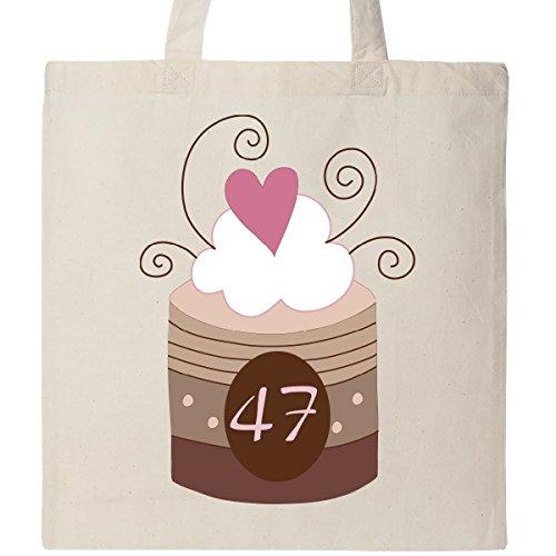 Inktastic 47th Birthday Cupcake Tote Bag Natural