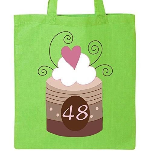 Inktastic 48th Birthday Cupcake Tote Bag Lime Green