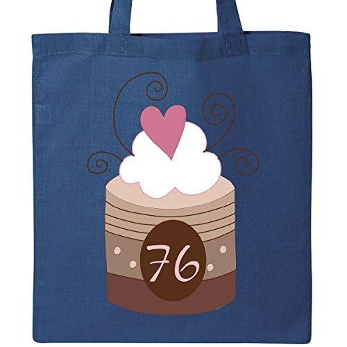 Inktastic 76th Birthday Cupcake Tote Bag Royal Blue