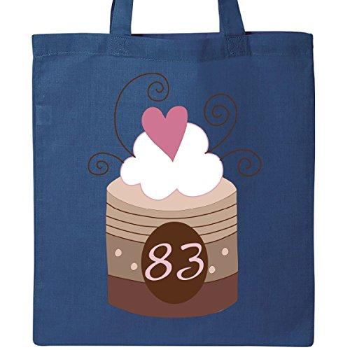 Inktastic 83rd Birthday Cupcake Tote Bag Royal Blue