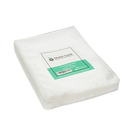 Nutri-Lock Vacuum Sealer Bags 100 Quart Bags 8x12 Commercial Grade Food Sealer Bags for FoodSaver and Sous Vide - New New