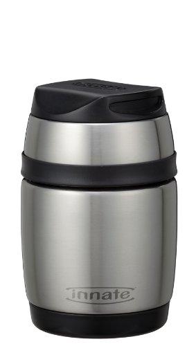 Innate Shiru Vacuum Food Container StainlessBlack 185 oz