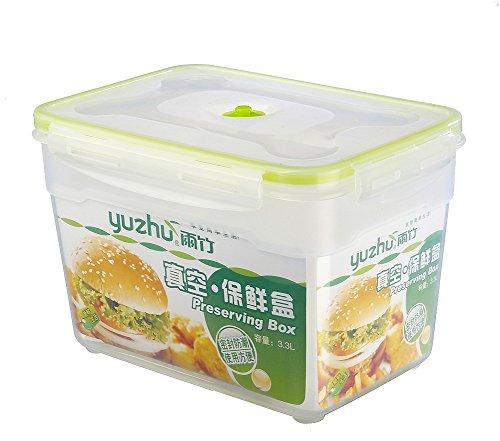 Bestwoohome Plastic Vacuum Food Storage Containers Fresh-keeping Leakproof Bento Box 47L Vacuum Pump Lid