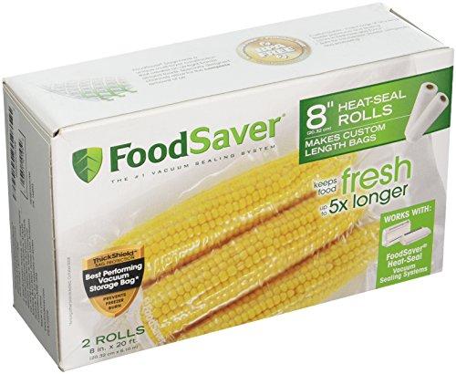 FoodSaver 8 X 20 Heat-Seal Rolls - 1 Box of 2 Rolls