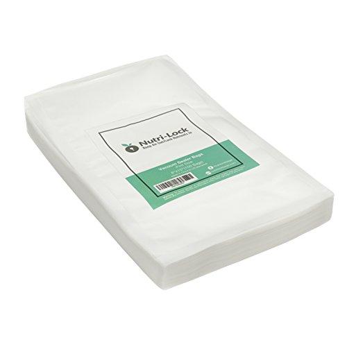 Nutri-Lock Vacuum Sealer Bags 100 Pint Bags 6x10 Commercial Grade Food Sealer Bags for FoodSaver and Sous Vide