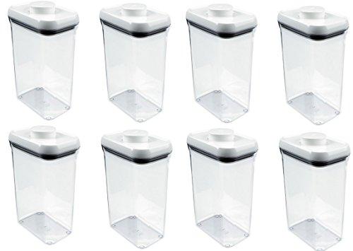 Oxo 1071397 25 Quart Pop Rectangle Food Storage Container - Quantity 8