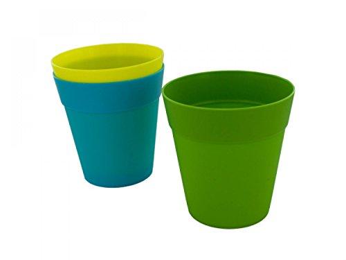Colorful Plastic Flower Pot - Set of 72 Lawn Garden Pots Planters Hangers