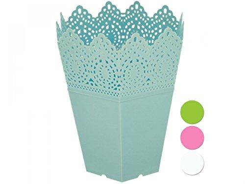 Decorative Hexagonal Multi-Use Flower Pot - Set of 144 Lawn Garden Pots Planters Hangers
