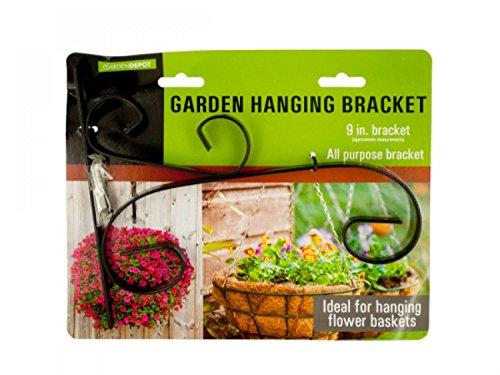 Decorative Metal Garden Hanging Bracket - Set of 24 Lawn Garden Pots Planters Hangers