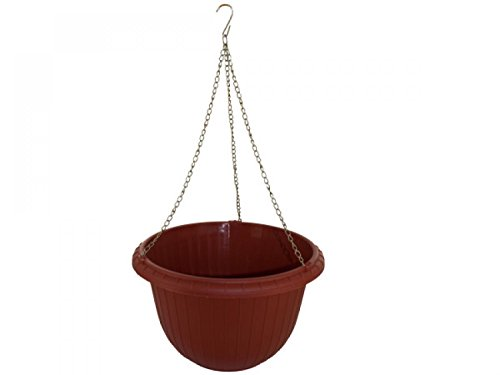 Hanging Flower Pot With Metal Link Chain - Set of 18 Lawn Garden Pots Planters Hangers