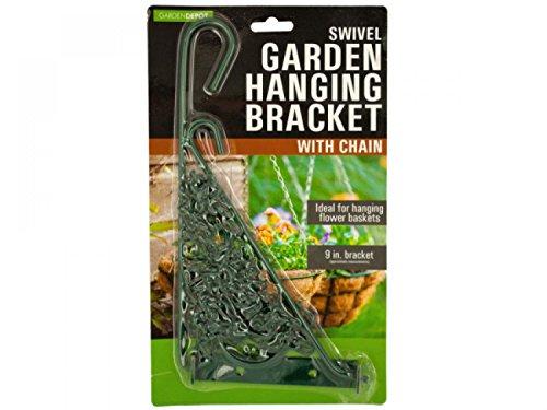 Swivel Garden Hanging Bracket With Chain - Set of 24 Lawn Garden Pots Planters Hangers