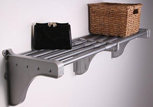 EZ SHELF - 40 - 75 Expandable Shelf - Silver - 2 Brackets