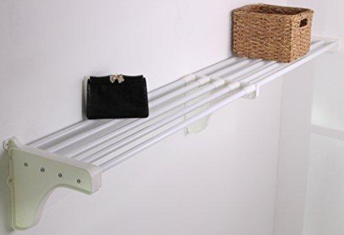 EZ Shelf - 28 - 49 Expandable Shelf - White - 1 Bracket